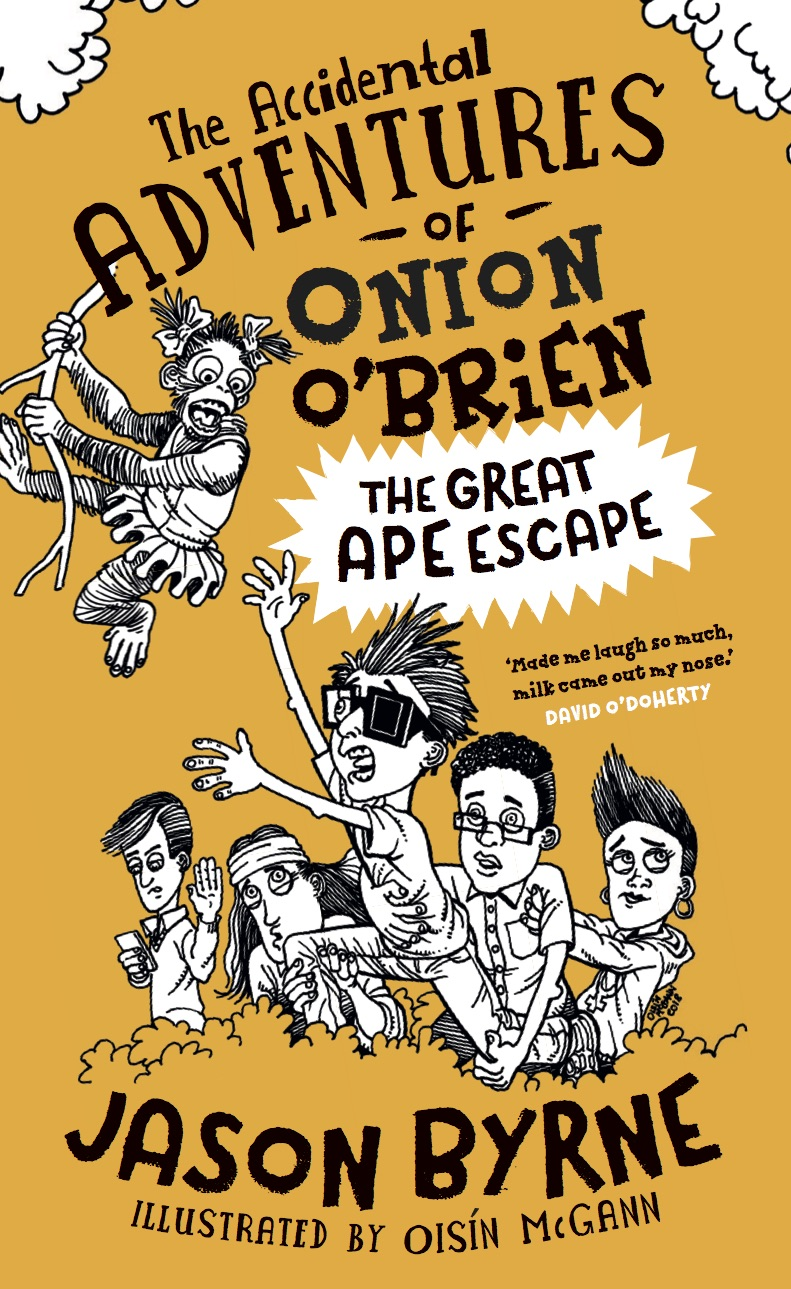 "Cover of ""Onion O'Brien and the Great Ape Escape."""